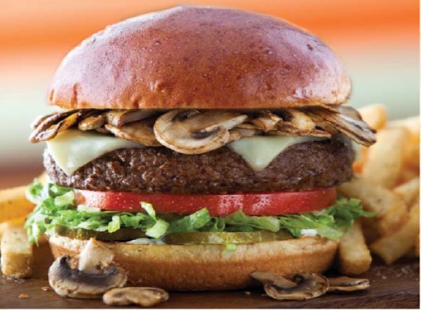 Mushroom-swiss craft burger