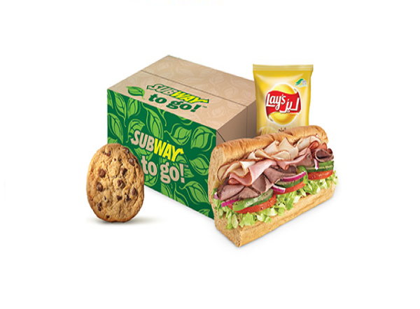 Subway to go meal