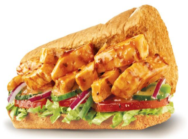 Chicken teriyaki sandwich ( 12 inch )