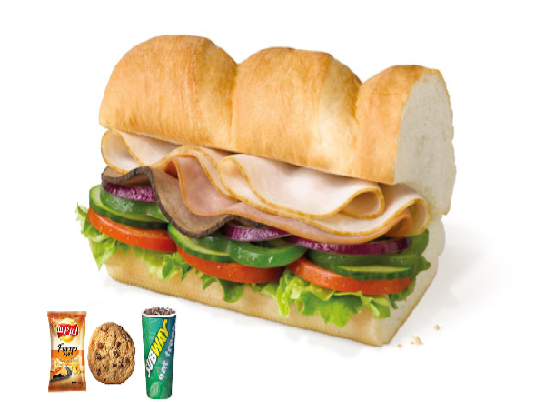 Subway club meal ( 6 inch )