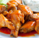 Cheesy chicken wings