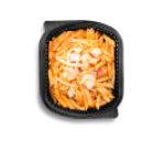Penne with seafood