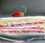 Strawberry sponge cake-piece