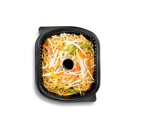Vegetarian noodles with soy sauce