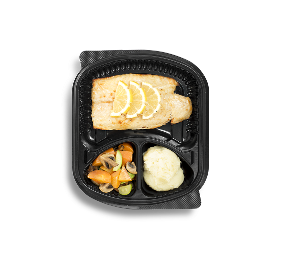 Fish fillet with slices of lemon