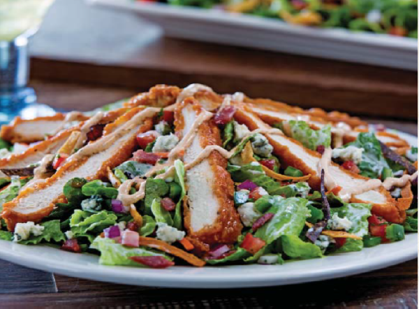 Boneless buffalo chicken salad
