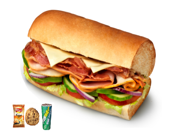 Subway melt meal ( 6 inch )