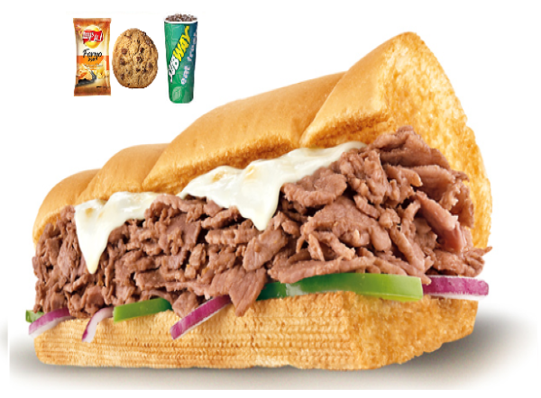 Steak & cheese meal ( 6 inch )