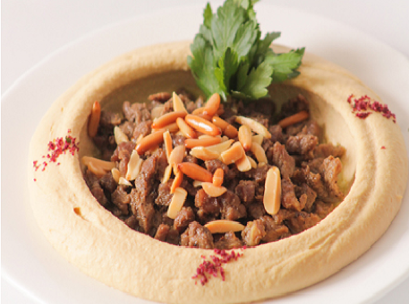 Hummus with beef
